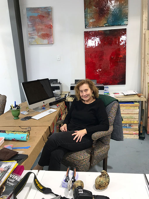 Virginia Bradley in her studio