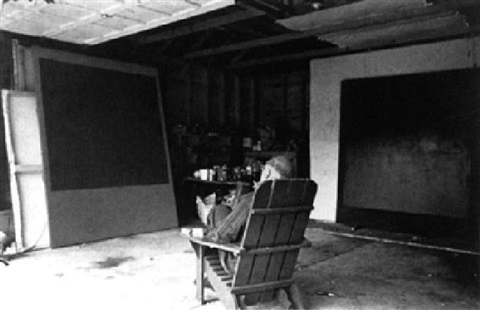 Mark Rothko in his Long Island Studio, 1964. Photo by Hans Namuth