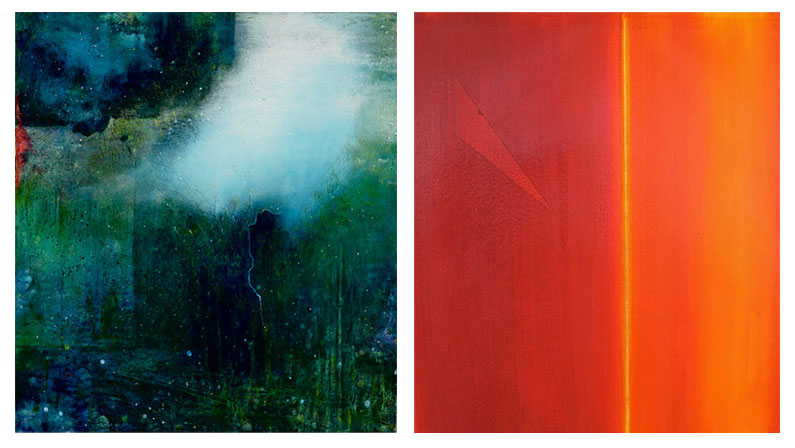 Investigations Show paintings featuring Virginia Bradley and Chris Malcomson