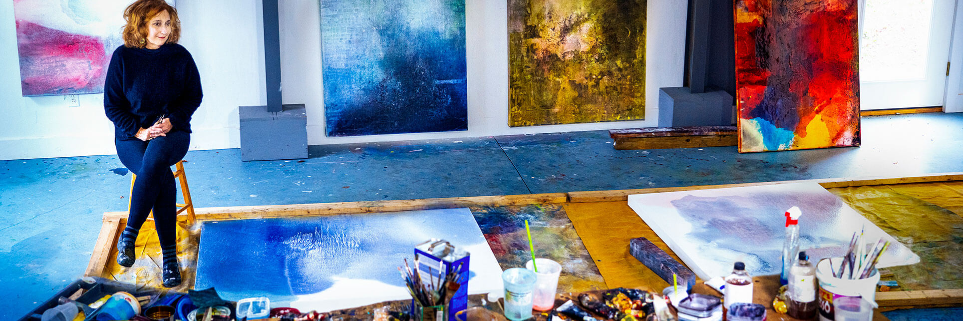 Studio life alchemy colorfield painting action painting New England