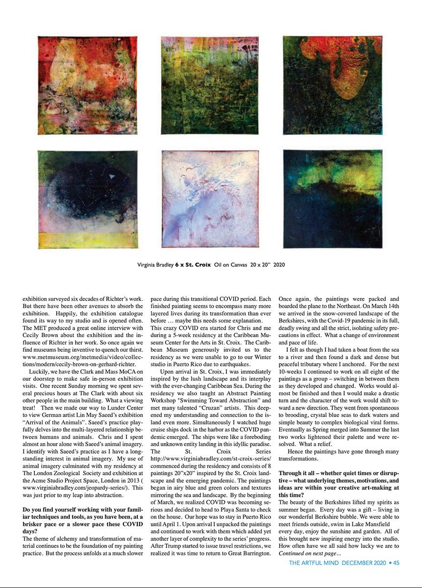 Virginia Bradley Artful Mind article Dec 2020 page 2
