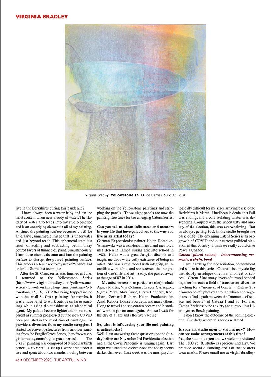 Virginia Bradley Artful Mind article Dec 2020 page 3