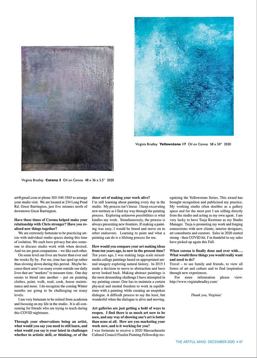 Virginia Bradley Artful Mind article Dec 2020 page 4