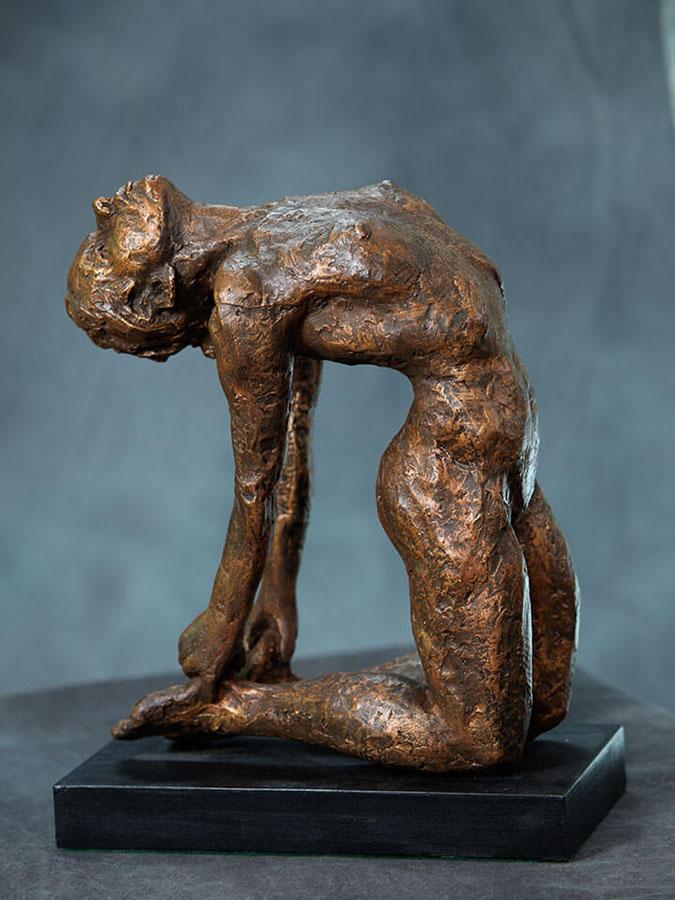 Camel Yoga Bow Pose, sculpture by William Casper