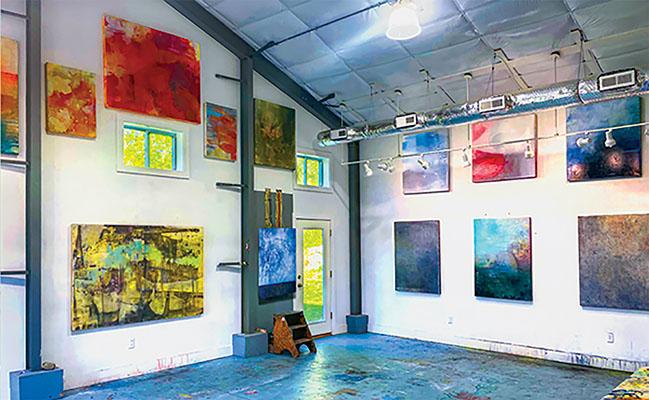 Inside Virginia Bradley Art Studio